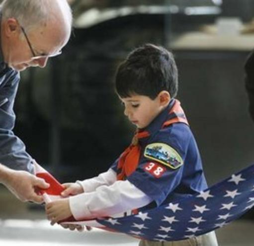 Teaching our young about the flag