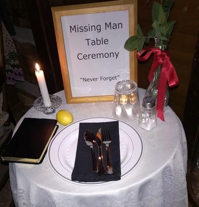 Astonishing Missing Man Table Ceremony Ann M Wolf Download Free Architecture Designs Intelgarnamadebymaigaardcom